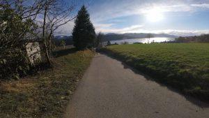 Die letzten Kilometer (Blick zum Ziel)