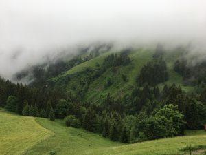 Laufen in den Wolken